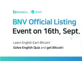 비네이티브 BNV 토큰, 스위스 Dcoin 거래소 상장