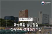 해수욕장 불법촬영 집중단속 결과, 6명 적발